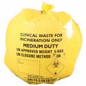 50 St. gelbe klinische Abfallsäcke
