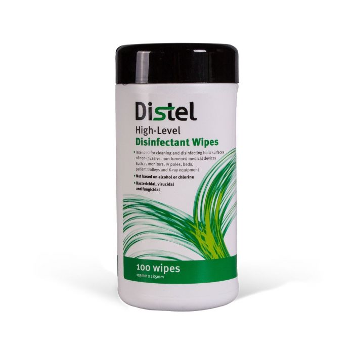 Distel 100 hochwertige medizinische Flächendesinfektionstücher – Standard