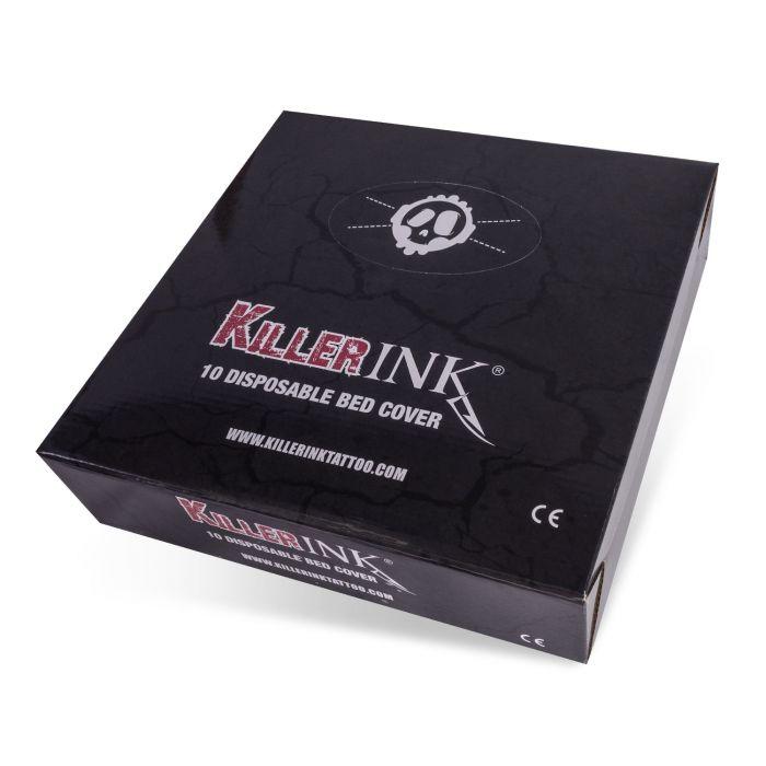 10 St. Killer Ink Liegenabdeckungen mit Gummizug, 210x90x20cm