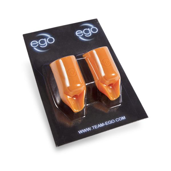 Set von 2 EGO Biogrips aus Silikon (gerade) in Orange – für Griffstücke bis zu 19MM