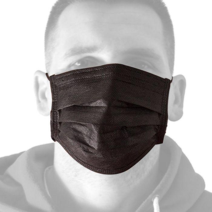 Box von 50 Killer Ink Black Line Gesichtsmasken