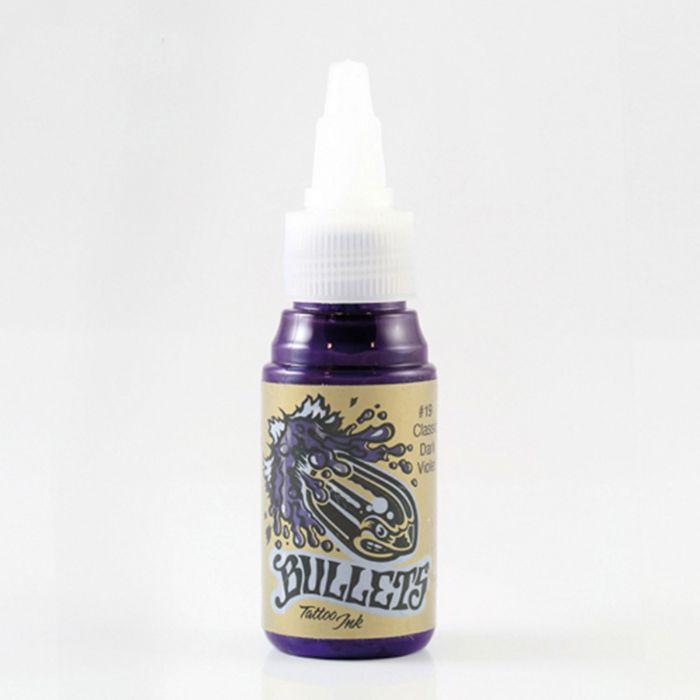 Bullets Tattoo Ink Classic Dark Violet Tattoofarbe