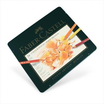 Faber-Castell – Polychromos 24 Künstlerfarbstifte im Metalletui