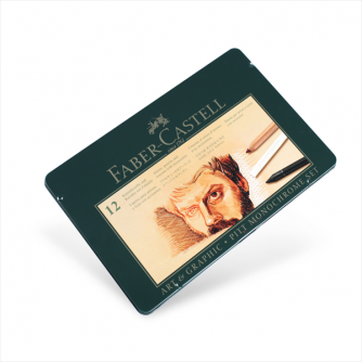 Faber-Castell – Pitt Set, Metal Tin of 12 Items