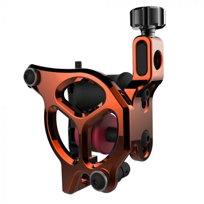 FK Irons AL13 Galaxie III Tattoomaschine, Alu-Rahmen in Orangerot – Conventional Liner