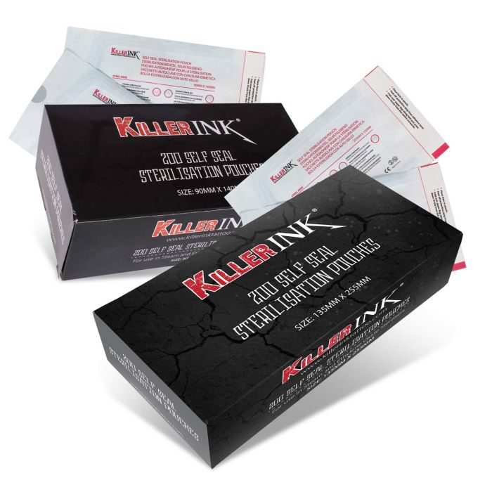 200 St. Killer Ink Autoklav-Sterilisationsbeuteln, selbstklebend