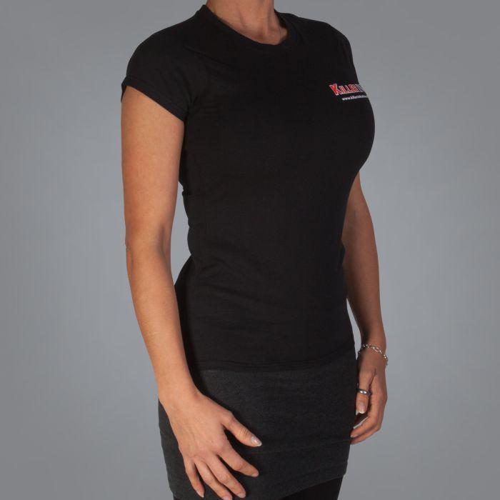 Killer Ink Frauen-T-Shirt in Schwarz