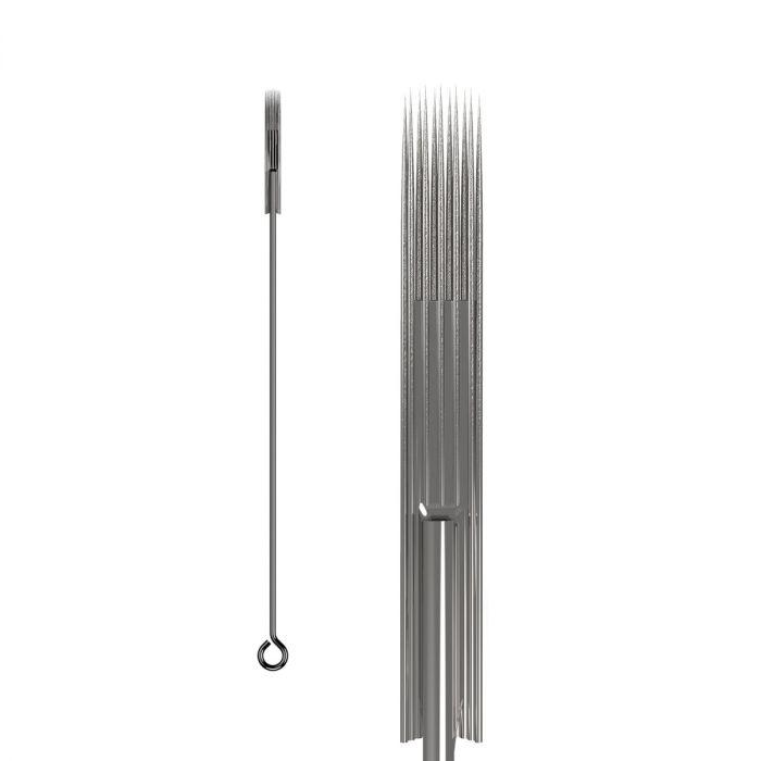 50 St. KWADRON Tattoonadeln 0,35MM LONG TAPER BUGPIN/TEXTURIERT – Soft Edge Magnum