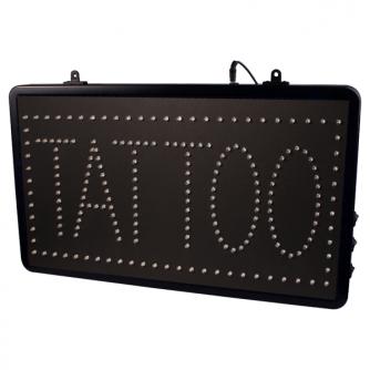"""""""Tattoo Studio"""" – LED-Schild zum Aufhängen, mit Kette"""